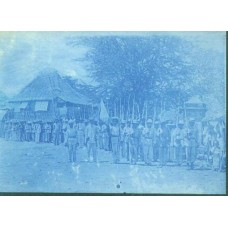 Cyanotype. Spanish American War Soldiers