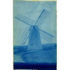 Cyanotype Of A Windmill #2