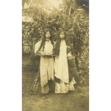 Toned Real Photo Postcard.Two Native Women.