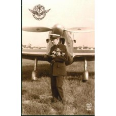 French Aviator and His  Plane