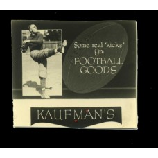 Advertising. Photo Ad  2. Kaufman's Football Goods