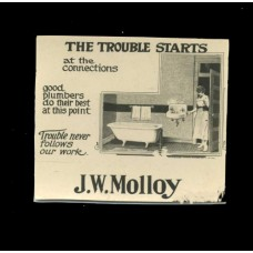 Advertising. Photo Ad 3..J.W. Molloy. Plumber.