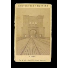 CDV.   Railway Bridge Over The Elbe Near Hamburg, Germany