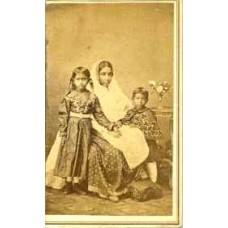CDV. Indian Woman & Her Two Children.