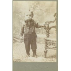Cabinet Card, Cute Kid With Large Bow Tie