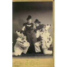 Cabinet Card. Schuler, H. Women and Clowns