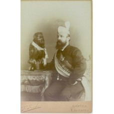Cabinet Card, Man And Owl.