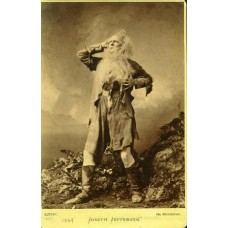 Sarony, Napoleon. Cabinet Card. Joseph Jefferson as Rip Van Winkle. Actor.