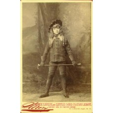Cabinet Card. Elsie Leslie as Little Lord Fauntleroy.  Sarony