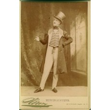 Sarony, Napoleon. Cabinet Card. Edwin Stevens,  Actor, Director, Writer. Appeared In Many Silent Films
