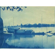 Cyanotype Siam Boat & Native