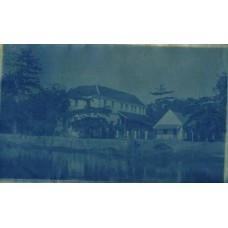 Cyanotype. Siam. House By A River