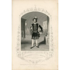 Engraving from a daguerreotype by Richards of  P. Richings  as Mercutio   in a scene from Shakespeare's ROMEO AND JULIET