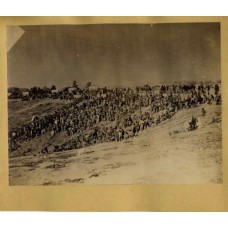 "Brady, M.  or Associate (attrib).   ""Confederate Prisoners Belle Plain, Va.  Awaiting exchange trains"