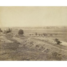 Brady, M.  or Associate (attrib).  Confederate Earthworks. Fredericksburg Virginia. 1864 .(SOLD)