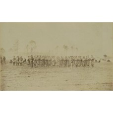 Brady, M.  or Associate (attrib).    Large Group Of Soldiers. Civil War. Rifles, Swords, & Drums.