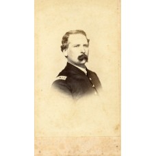 CDV.  Civil War Captain, Unidentified. Stiff Brother Middleboro, Mass. (SOLD)