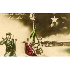 RPPC. World War I You Are Over The Tricolor Flag Italy