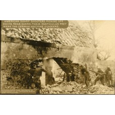 RPPC. World War I American Sharp Shooters Picking Off Boche Rear Guard.