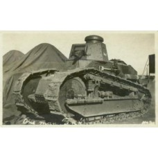 RPPC. World War I Two Man Renault RT Tank