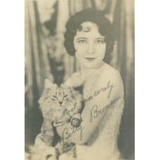 SILENT MOVIE STARS FAN PORTRAITS. Bronson, Betty and Her Cat