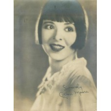 SILENT MOVIE STARS FAN PORTRAITS .(Over 30)  Moore. Colleen Silent Movie Star. Facsimile Signature.  Silver Print 6 1/2 X 8 1/2  with some silvering