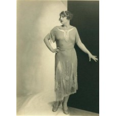 Allen, Albert Arthur. Model In A Dress  silver print #1