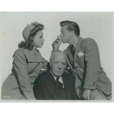 "Bull, Clarence Sinclair. Judy Garland, Mickey Rooney , and Lewis Stone. ""Life Begins For Andy Hardy."""