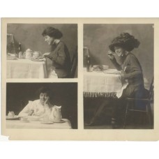 Schenk, Charles (attrib.) Women Eating.  Three Photographs On One Sheet