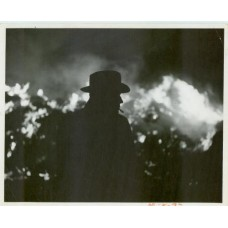 Turner, Pete. Man Smoking. Silhouette.