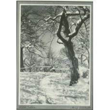 Fassbender, Adolf. Winter Solitude.Used as a Xmas card. (SOLD)