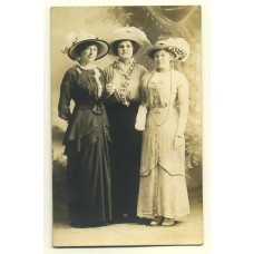 RPPC. 3 Women Wearing Great Hats