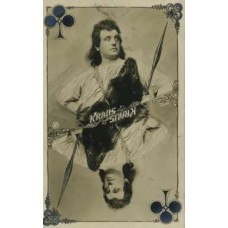 Ernst Kraus (1863-1941). Opera Singer. Playing Card. RP PC. (Currently Unavailable)