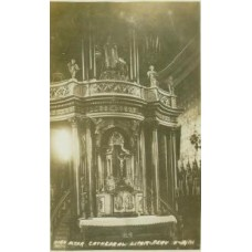 RPPC .High Altar Cathedral Lima. Peru.
