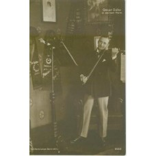 RPPC. Oscar Sabo (1881-1969) German  Film Star Holding  Violin