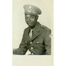 Studio.  African American Soldier. WWII RP PC.