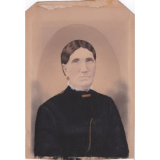 Salt print. Large Beautifully Hand Colored Salt Print of Mrs. Benson