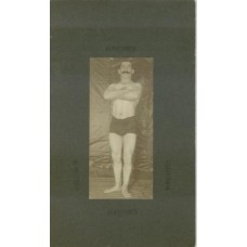 Bodybuilder Full Length Man With Folded Arms. Circa  1910  Photographer H. F. Kallenbach,