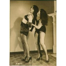 Two Women Wrestling 4 X 5  inch silver print (SOLD)