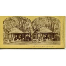 Stereoview  Garden of the Tivolie de San Cosme.  Mexico. Kilburn Brothers.
