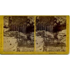 Stereoview. Weeping Rock, Colorado Mountain Scenery. W. G. Chamberlain