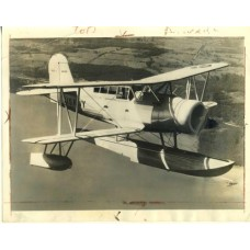 Curtiss Hawk Navy  Airplane. 1936 .  News Photograph.
