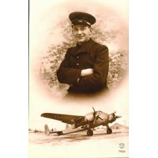 French Aviator and His  Twin Engine  Plane