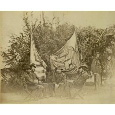 Brady, M.  or Associate. 15th N.Y. Engineers With Battle Flag