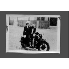 Snapshot, German . 1932. Two Women On A Motorcycle